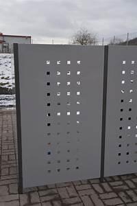 Sichtschutz Für Metallzaun : end pfosten f r sichtschutz stele 180 cm hoch ~ Whattoseeinmadrid.com Haus und Dekorationen