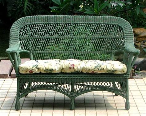 Outdoor Wicker Settee by Mackinac All Weather Wicker Loveseat Settee All About Wicker