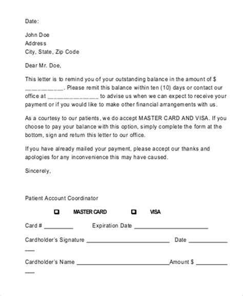 sample payment received receipt letters