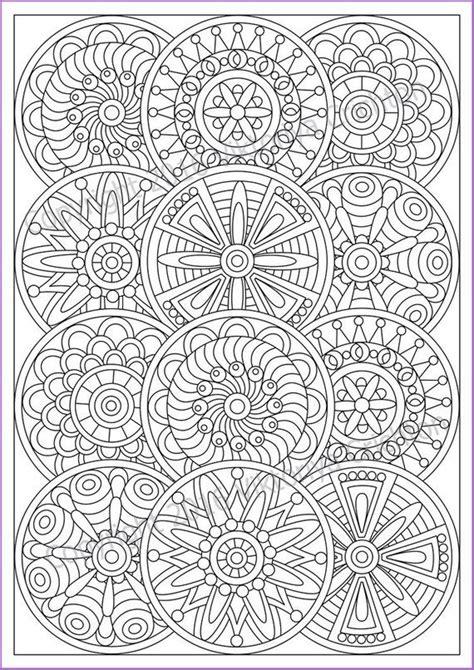 mandala coloring page  adult  doodle zentangle art pattern printable doodle flowers