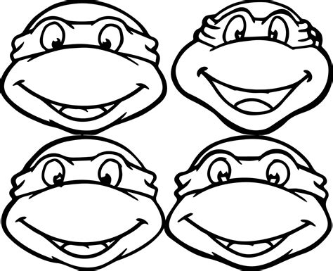 Confidential Teenage Mutant Ninja Turtles Faces Coloring