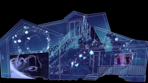 frozen christmas house projection sample youtube
