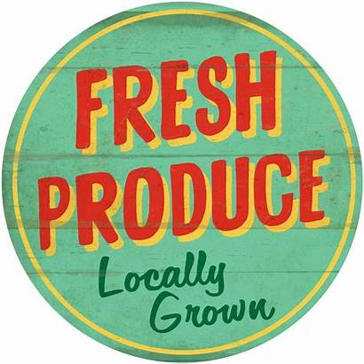 Produce Farm Signs Stand Fresh Market Sign