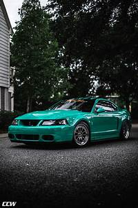 Grabber Green Ford Mustang 4th Gen 03 Cobra - CCW D110 Wheels in Polished Aluminum w/ Polished ...