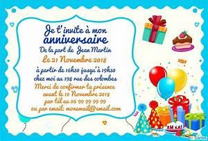 Carte Anniversaire Pour Enfant : carte d invitation pour anniversaire enfant lighteam ~ Melissatoandfro.com Idées de Décoration