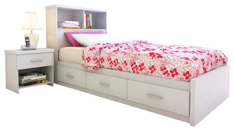 Single Bed Bookcase Headboard by Sonax Willow Single Storage Bed With Bookcase