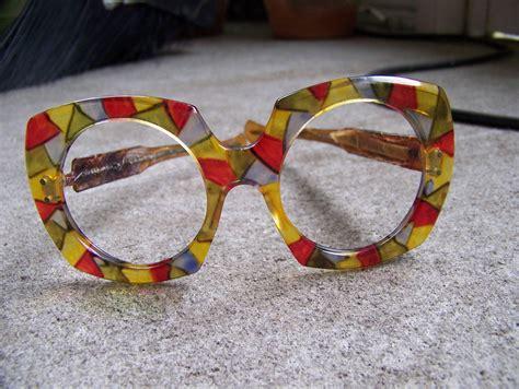 funkie big funky disco glasses frames sun eyewear bug eye big blue green yellow costume unisex on