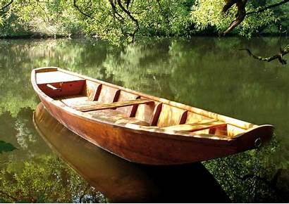 Boat Empty River Collides Skiff Own His