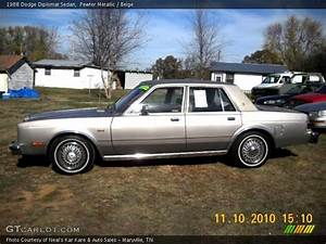 1988 Dodge Diplomat Sedan In Pewter Metallic Photo No  39639751