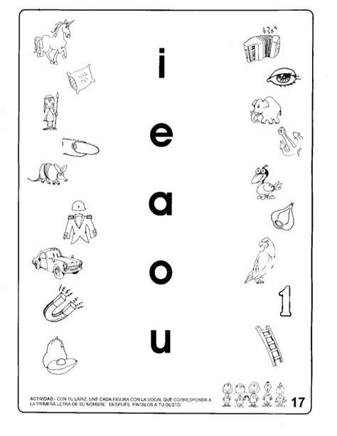 ejercicios identificar las vocales buscar con siie teaching learning