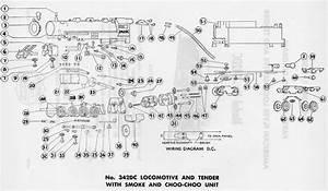 American Flyer Locomotive 342dc Parts List  U0026 Diagram