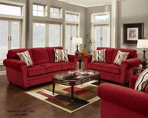 4180 washington samson red sofa and loveseat www With red sectional sofa decor