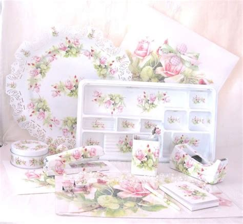 shabby chic office supplies shabby chic desk accessories best home design 2018