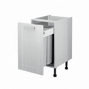 Meuble Poubelle Cuisine : meuble bas poubelle encastr e 450 mm meuble ~ Dallasstarsshop.com Idées de Décoration