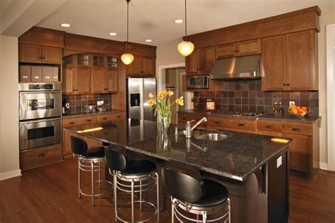 oak kitchen design ideas arts crafts kitchen quartersawn oak cabinets