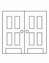 Door Coloring Pages Template Open Printable Templates Print Colouring Doors Printables Sheet Front Sheets Christmas Sc St Designlooter Hanger Different sketch template