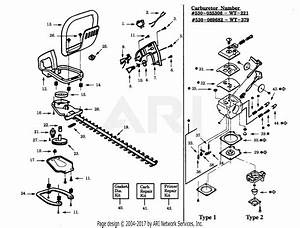 Poulan Ght22 Gas Hedge Trimmer Parts Diagram For Handle