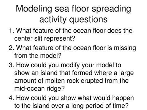 Sea Floor Spreading Worksheet Section 1 4 by Ppt Http Phschool Webcodes10 Index Cfm Wcprefix