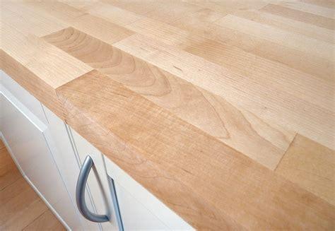 Arbeitsplatte  Küchenarbeitsplatte Massivholz Birke Fsc