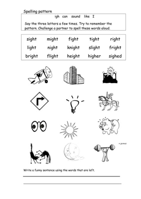 igh worksheets ks1 spell and read words with igh by coholleran teaching