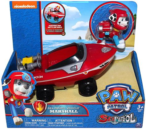 Paw Patrol Boat Game by Nickelodeon Paw Patrol Marshall Sea Patrol Vehicle With Figure