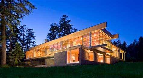 gulf islands residence modern exterior vancouver