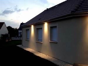 eclairage exterieur facade maison atlubcom With eclairage exterieur facade maison