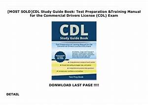 Most Sold Cdl Study Guide Book  Test Preparation