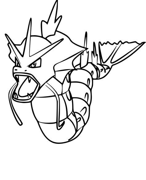 Coloriage Leviator Pokemon Go à Imprimer
