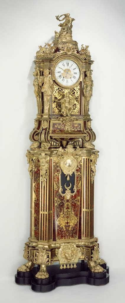long case musical clock getty museum