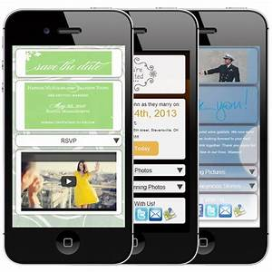 1000 images about mobile wedding invitations on pinterest With interactive digital wedding invitations