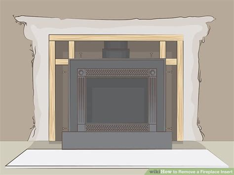 remove  fireplace insert  pictures wikihow