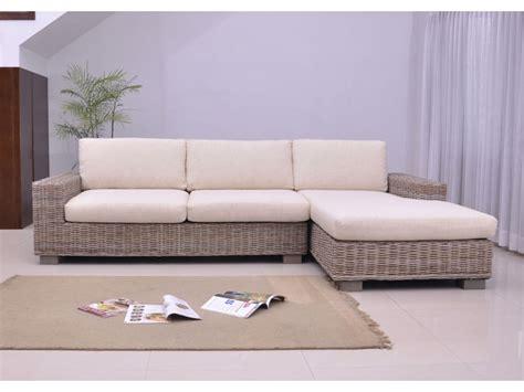 canapé moderne design canapé d 39 angle en rotin tressé et en tissu hevea