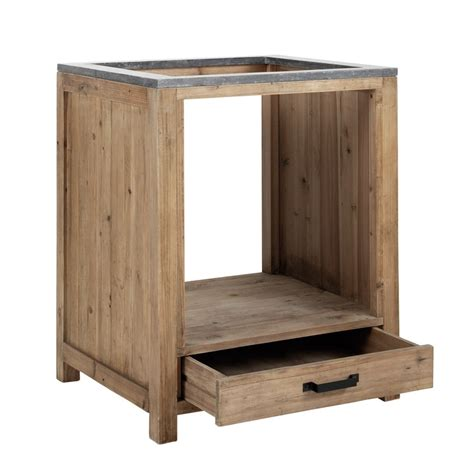 meuble bas de cuisine pour four en bois l 70 cm pagnol