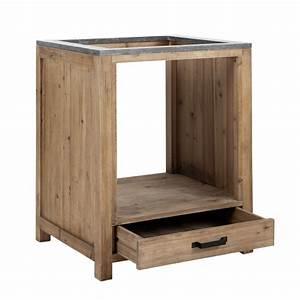 Meuble Bas Bois : meuble bas de cuisine pour four en bois l 70 cm pagnol maisons du monde ~ Teatrodelosmanantiales.com Idées de Décoration