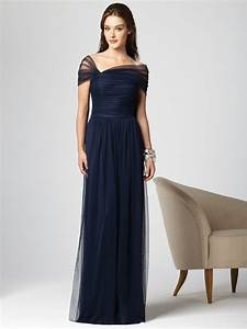 Navy blue bridesmaid dresses with sleeves cherry marry for Navy dress for wedding