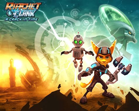 wallpapers ratchet clank future  crack  time ps