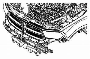2011 Dodge Bracket  Front Bumper  Right  Mopar  Fascia