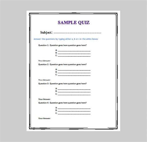 quiz template 5 best free business quiz templates free premium templates