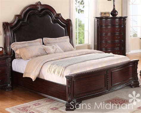 king size  pc sheridan collection traditional cherry