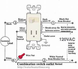 Light Switch Outlet Combination Wiring Diagram
