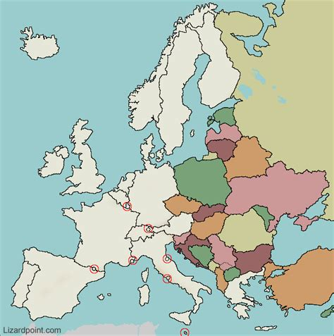 test  geography knowledge eastern europe countries
