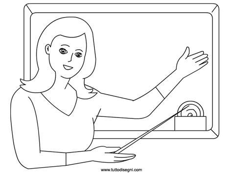 disegni estate da colorare e stare maestra maestra alla lavagna da colorare tuttodisegni