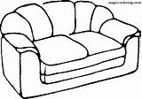 Coloring Pages Sofa Furniture Magic sketch template