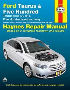 Ford Taurus Five Hundred Mercury Montego Sable Workshop Repair Manual Haynes