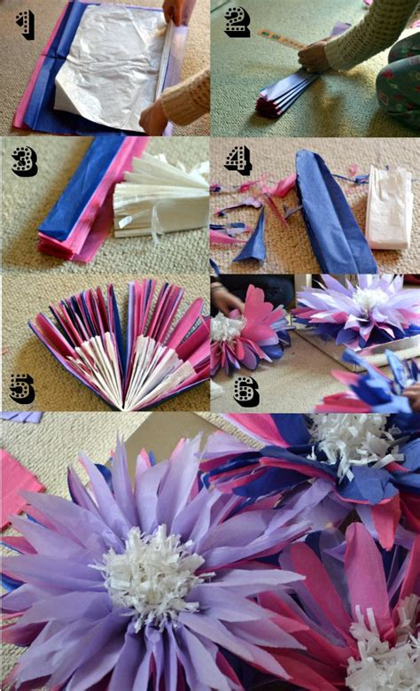 Make Giant Tissue Paper Flowers