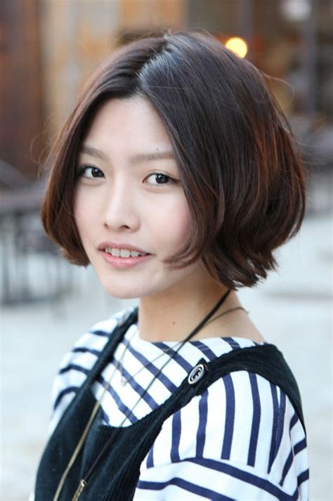 korean hairstyle 2013 pretty center parted bob haircut