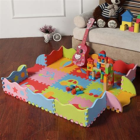 la vogue 5 motifs 25pcs tapis puzzle sport mousse enfant
