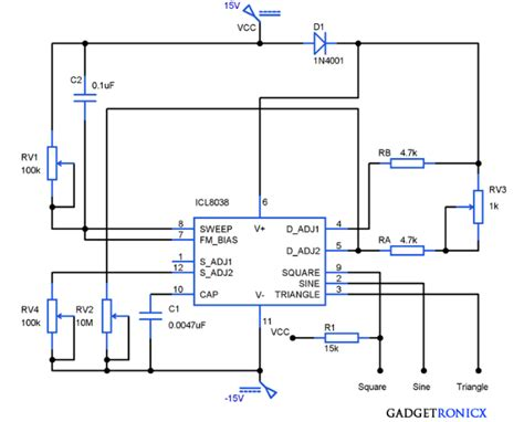 Function Generator Circuit Using Icl Gadgetronicx