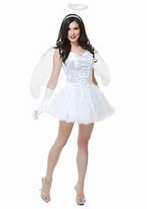 Women's White Angel Costume